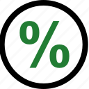 interest, money, online, rate icon