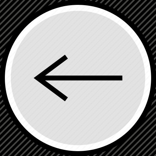 arrow, back, internet, left icon