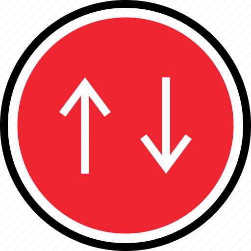 arrow, down, up, web icon