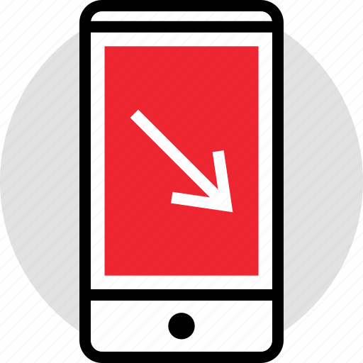 arrows, cell, phone icon