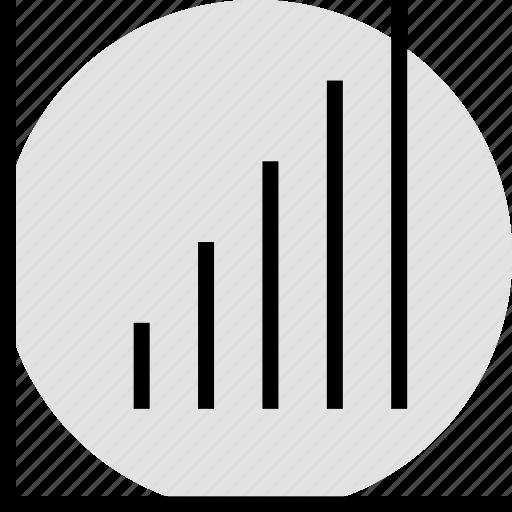 bars, data, internet, up icon