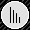 bars, down, internet icon