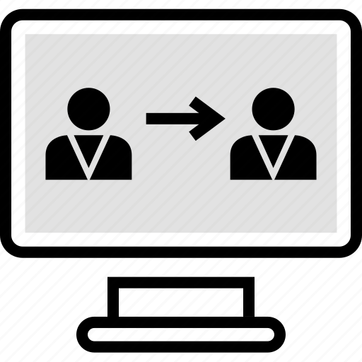 connect, pc, users icon