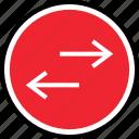 arrows, internet, left, right icon