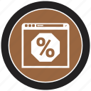 browsing, online, percent, percentage icon