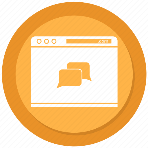 browser, chat, chating, internet, webpage, website icon