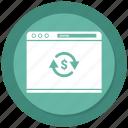 browser, dollar, history, internet, webpage, website
