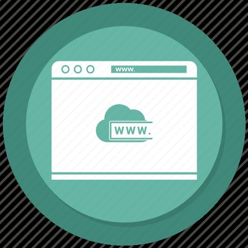 cloud, internet, seo, web, website, www icon