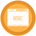 internet, seo, web, website, www icon