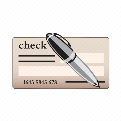 bank, check, document, paper icon