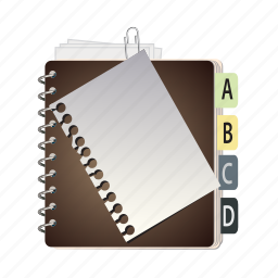adress, book, namebook, paper icon