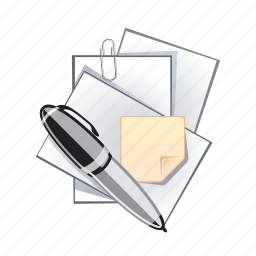 document, note, paper, pen, write icon