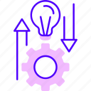business, growth, idea, internet, online, settings icon