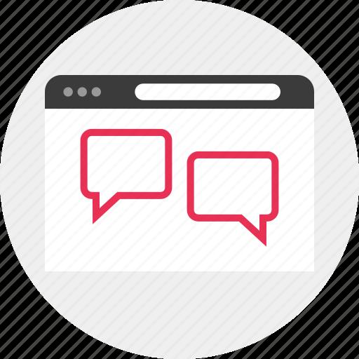 chat, talk, www icon