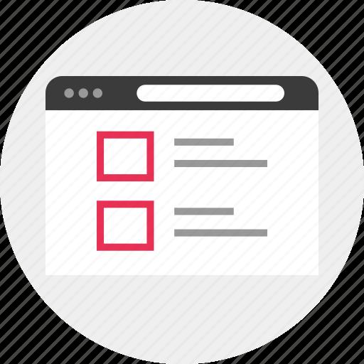 data, list, web icon