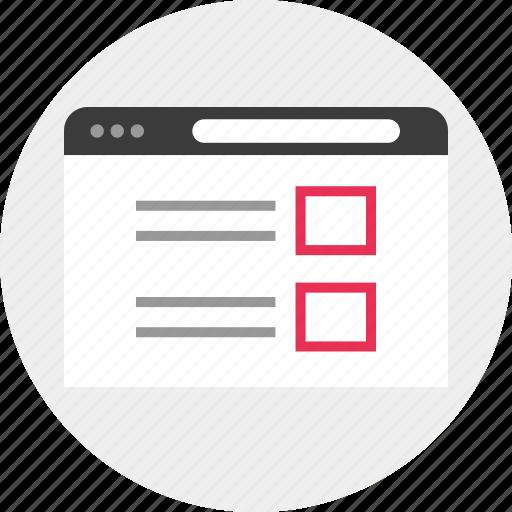 list, ui, web icon