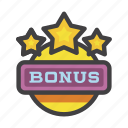 bonus, casino, compensation, gambling, premium, prize, reward icon