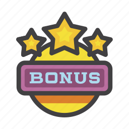 bonus, casino, compensation, gambling, premium, prize, reward icon