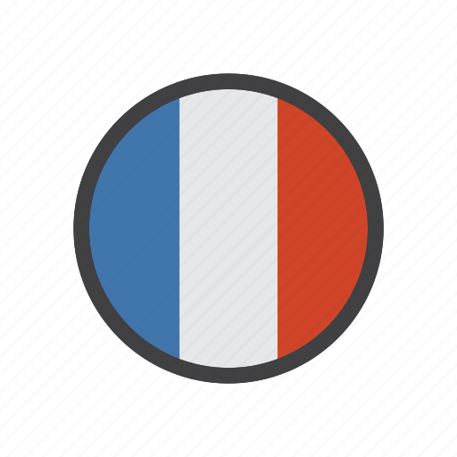country, flag, france, sign icon