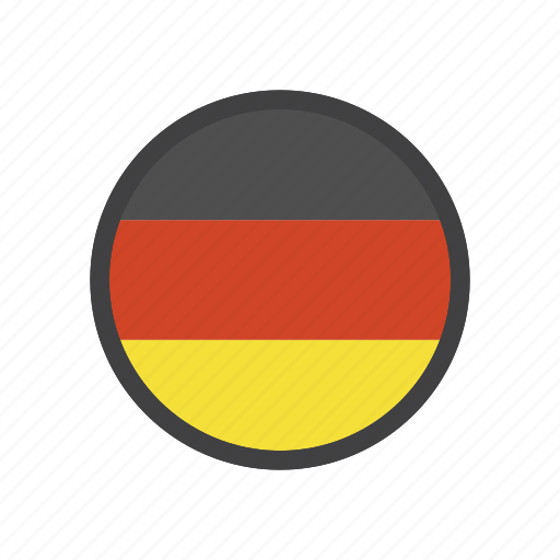 country, flag, germany, sign icon