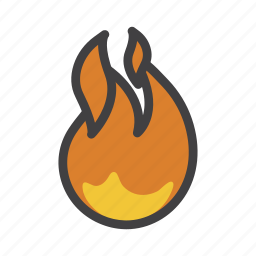 blaze, fire, flame, hot, on fire, tip icon