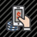 casino, mobile, mobile casino games, mobile gambling icon