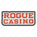 casino, casino-hotel, gambling, hotel-casino, rascal, rogue, rogue casino icon