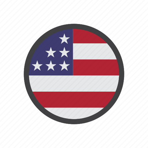 country, flag, place, united states, us, usa icon