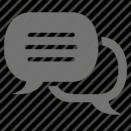 bubbles, chat, conversation, message, speech, talk icon