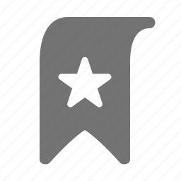 bookmark, favorite, mark, star icon