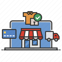 e-commerce, ecommerce, online, shopping, store icon