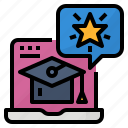 courses, learning, online, popular icon