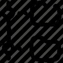 connect, folder, offline, organization, tree icon