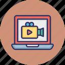 media website, movie website, multimedia website, video website+ icon
