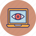 cyber monitoring, monitoring eye, web cyber monitoring, web eye monitoring icon
