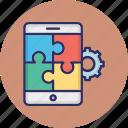 app configuration, app developer, app development, mobile app developer icon