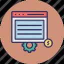 seo optimization, web configuration, web development, web optimization icon