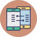 data exchange, data sending, data sharing, data synchronization icon
