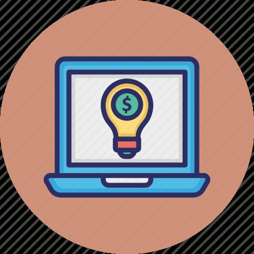 business concept, business development, digital money idea, online business idea icon