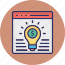 business concept, business idea website, digital business idea, online business idea icon