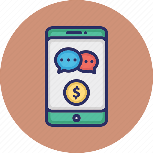 finance chat app, finance communication, finance media, mobile chat icon