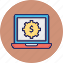 banking software, business software, cost development, finance software icon
