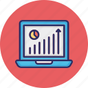 business analysis, data analytics, growth chart, income growth icon