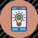 business concept, business monetize, digital monetize idea, online business idea icon