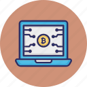 bitcoin cryptocurrency, bitcoin website, blockchain web, cryptocurrency web icon