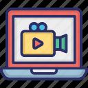 media website, movie website, multimedia website, video website icon