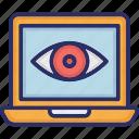 cyber monitoring, monitoring eye, web cyber monitoring, web eye monitoring icon