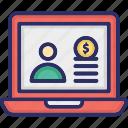 account login, business login, finance account, finance account login icon