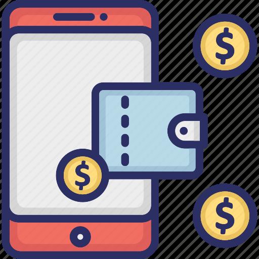 digital wallet, financial app, mobile application, mobile wallet icon