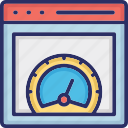 page speed test, speed testing, web performance, web speed icon